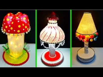 3 Handmade Lamp/Lampshade made With recycled Plastic Bottle| Best out of waste room decoration idea