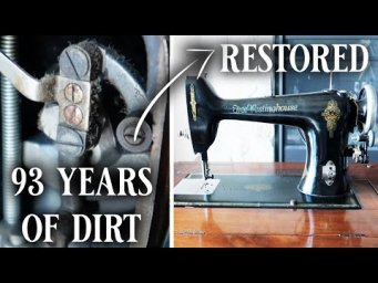 Restoring a 1927 Sewing Machine - an antique Free Westinghouse electric machine with wood cabinet!
