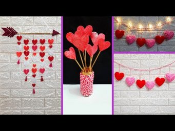 3 Valentine day Special wall hanging made for room decoration | DIY valentine day Craft ideas