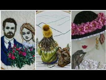 Unique And Outstanding Hand Embroidery Designs Ideas / Hairstyle Embroidery /  3d hair embroidery