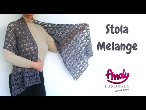 Stola Melange Uncinetto Facile Inverno Andy Handmade