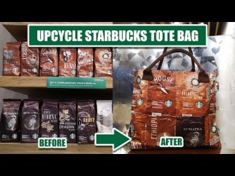 Upcycle Starbucks Coffee Beans Bags Into Tote Bag