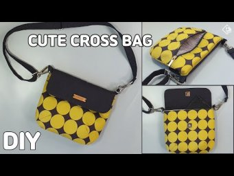 DIY CUTE CROSSBODY BAG/ Mini Cross Body Bag & Sewing Pattern/ sewing tutorials[Tendersmile Handmade]