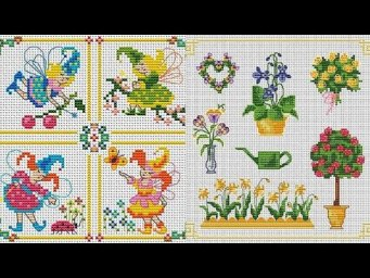 Fabulous Small Cross Stitches Pettern Beautiful Easy Counted Chaar Suti Embroidery Design