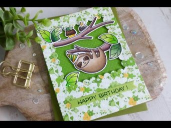 Take It Easy Birthday Card | Copic Coloring | Lawn Fawn