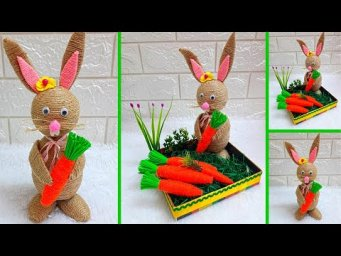 Economical Easter Craft made with waste materials |DIY Low budget Easter/Spring décor idea (Part13)