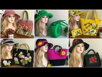 Exclusive And Impressive Designer Embroideried Bags,Purse / Hand Embroidery Bags / Embroidery Hats