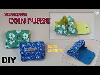 DIY ACCORDION COIN PURSE/ FREE PATTERN/ Card & Coin Purse / sewing tutorial [Tendersmile Handmade]