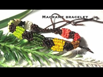 HOW TO MAKE A SIMPLE MACRAME BRACELET FROM SCRAP THREADS - MYOW 125