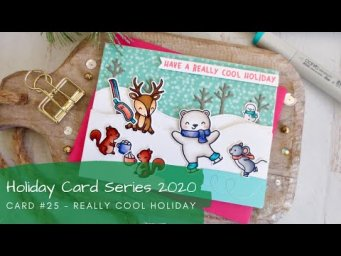 Holiday Card Series 2020 #25 | Copic Coloring a Winter Fun Scene | Lawn Fawn