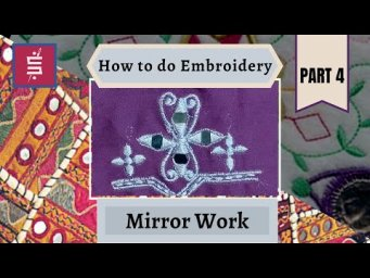 How to do Mirror Work - HOW TO DO EMBROIDERY PART -4 #mirror#mirrorwork#mirrorembroidery#staysafe