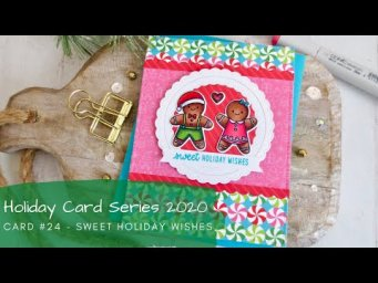 Holiday Card Series 2020 #24 | Copic Coloring Exclusive Stamps | Sunny Studio Stamps