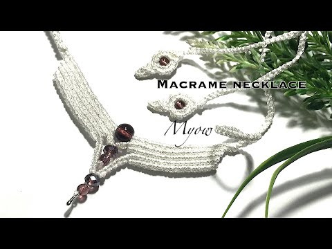 CHEVRON MACRAME NECKLACE - MYOW 232