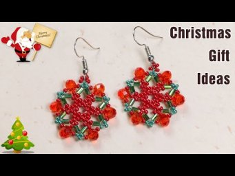 Christmas gift ideas diy. Jewelry making. Beaded earrings