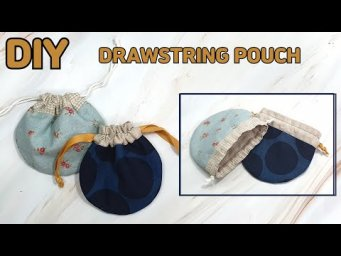 DIY ROUND DRAWSTRING POUCH/ Mini pouch/ easy sewing tutorial [Tendersmile Handmade]