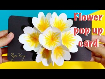 LÀM THIỆP POP UP HOA  / Flower Pop Up Card Tutorial - NGOC VANG