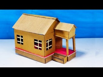 How To Make a Small Cardboard House | Easy DIY Crafts
