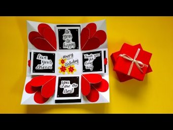 DIY Gift Box for Birthday | Explosion Box Idea for Birthday | Tutorial