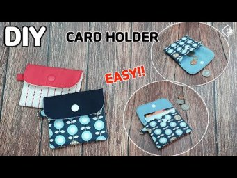 DIY CARD HOLDER/ CARD WALLET/ Making a pouch without a zipper/ sewing tutorial[Tendersmile Handmade]