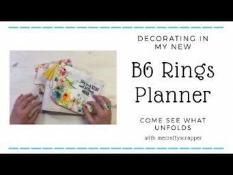 DECORATING IN MY B6 RINGS PLANNER | SET UP | PLAN WITH ME