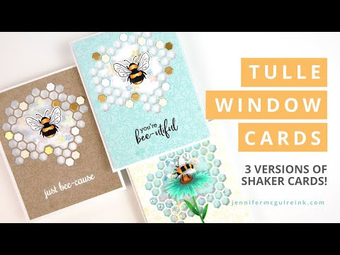 Tulle Window Cards