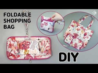 DIY REUSABLE GROCERY BAG/ Foldable Shopping Bag/ Wallet Tote/ sewing tutorials[Tendersmile Handmade]