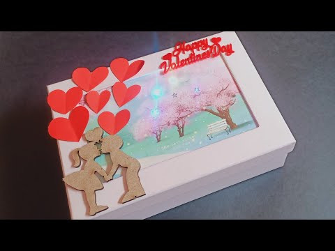 Valentine's Day Surprise Box||LED surprise box For girlfriend||cute Valentine gift For GF