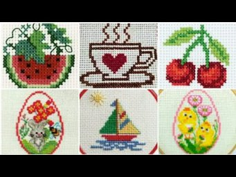 Easy And Beautiful Cross Stitch Pattern / Char Suti Karhai K Design / Heavenly Handmade Creations