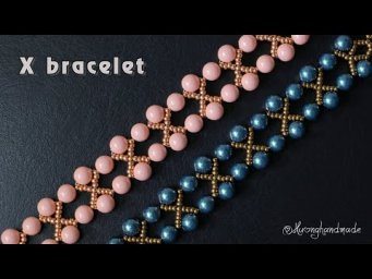 X beaded bracelet (simple and elegant) Easy jewelry making