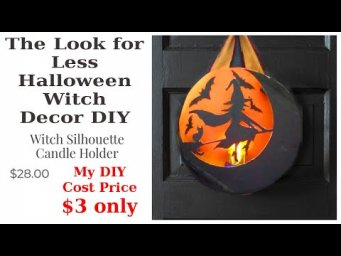 Witch Lantern Halloween Farmhouse Decor Look for Less Dollar Tree DIY / MomDas Life Handmade
