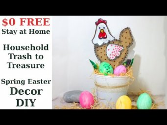 $0 FREE Stay at Home Trash to Treasure Craft Easy Spring & Easter Decor DIY