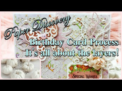 Let's Make a Birthday Card! It's About Layers! | Paper Discovery by Olga Direktorenko | Craf