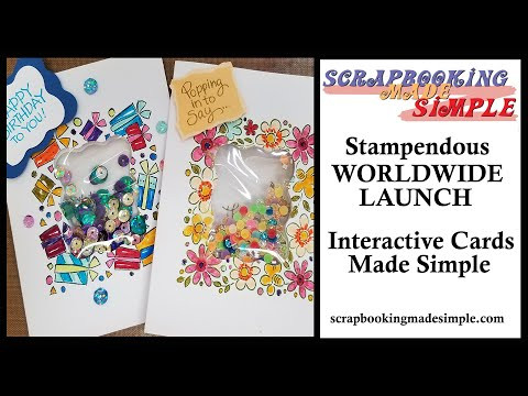 #375 New Stampendous Stamps for the fastest shaker cards ever & Watercolor Pencils vs Color Pencils!
