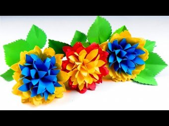How to make Beautiful Paper Flower Making - Diy Home Decor Ideas - Handmade Craft