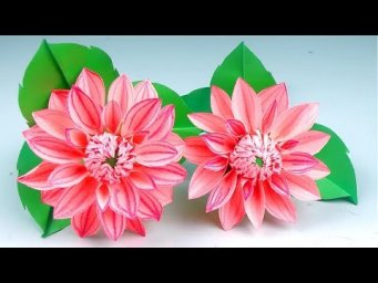 How to make beautiful paper flower - Making Paper Flowers Step by Step - Handmade Craft