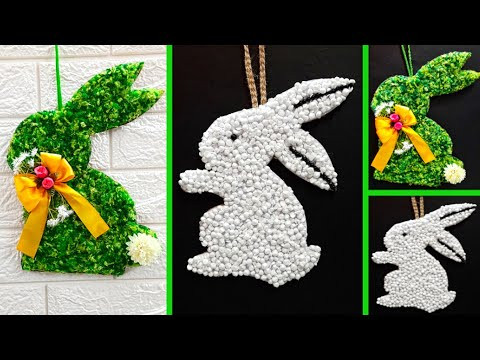 2 Economical Easter Bunny wreath made From waste materials | DIY Low budget Easter/Spring décor idea