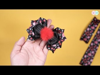DIY Hair Clips / Hair Tie Ideas For Baby Girl - Easy Step by Step By Elysia Handmade #11