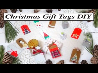 Ten Easy Farmhouse Christmas Gift Tags DIY / Holiday Paper-craft Tutorial for Beginners