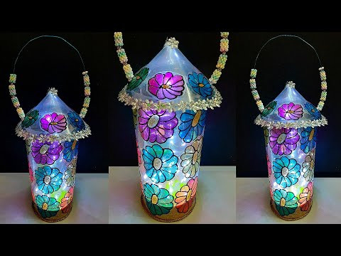 DIY handmade Lantern/Lamp made with Plastic  sheet at home| DIY room decoration idea