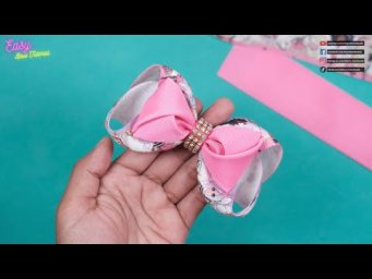 DIY Hair Accessories - Amazing Bows With 2 Model Of Bows - Elysia Handmade