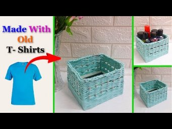 Best out of waste basket made with old cloth |DIY basket making idea