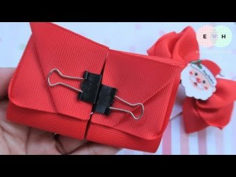 How To Make A Santa Bow With Ribbon — Ribbon Tricks & Easy Making Tutorial #82