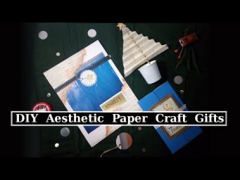 3 DIY Paper Craft Gifts for Him Folder, Journal & Christmas Tree Useful DIY Challenge November 2019
