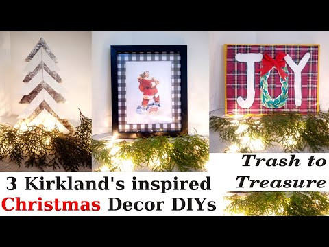 Kirklands Inspired Christmas Decor / Look for Less Modern Farmhouse Holiday DIY