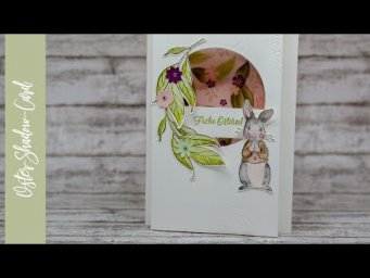 "Oster-Shadowbox-Karte mit dem Stempelset ""Fable Friends"""