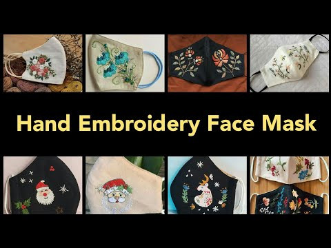 Hand embroidery face mask / Handmade face masks / Christmas face mask / Diy face mask