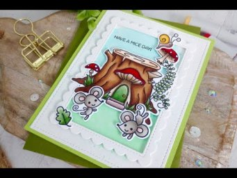Mouse House Card | Copic Coloring | Trinity Stamps