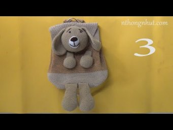How to Crochet Puppy dog backpack