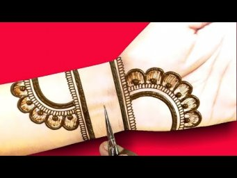 Eid special Arabic mehndi 2021 for front hand_very easy stylish and beautiful Arabic mehndi design