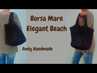 TUTORIAL BORSA MARE BROWN  Uncinetto Facile Andy Handmade